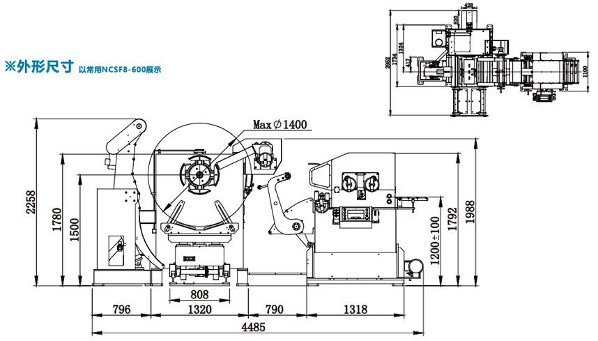 厚板型三合一送料机NCSF8